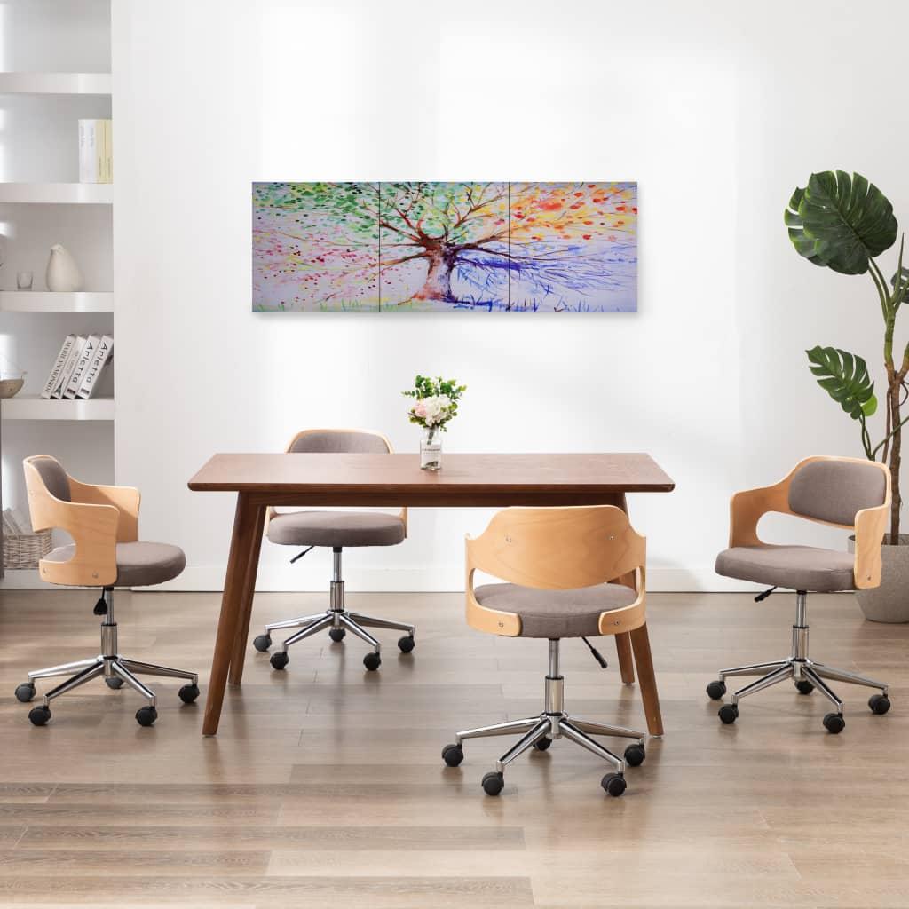 Sada nástěnných obrazů na plátně Dešťový strom barevná 120x40cm