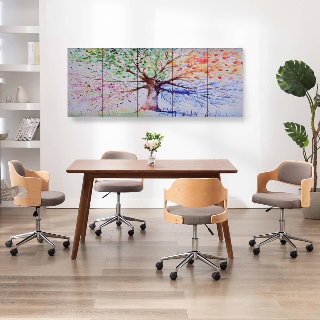 Sada nástěnných obrazů na plátně Dešťový strom barevná 150x60cm