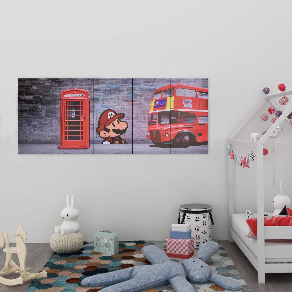 Sada nástěnných obrazů na plátně Londýn barevná 150 x 60 cm