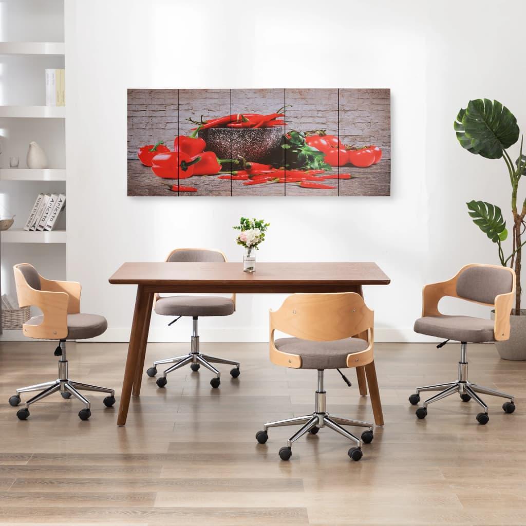 Seinamaalikomplekt lõuendil, paprika, värviline,..