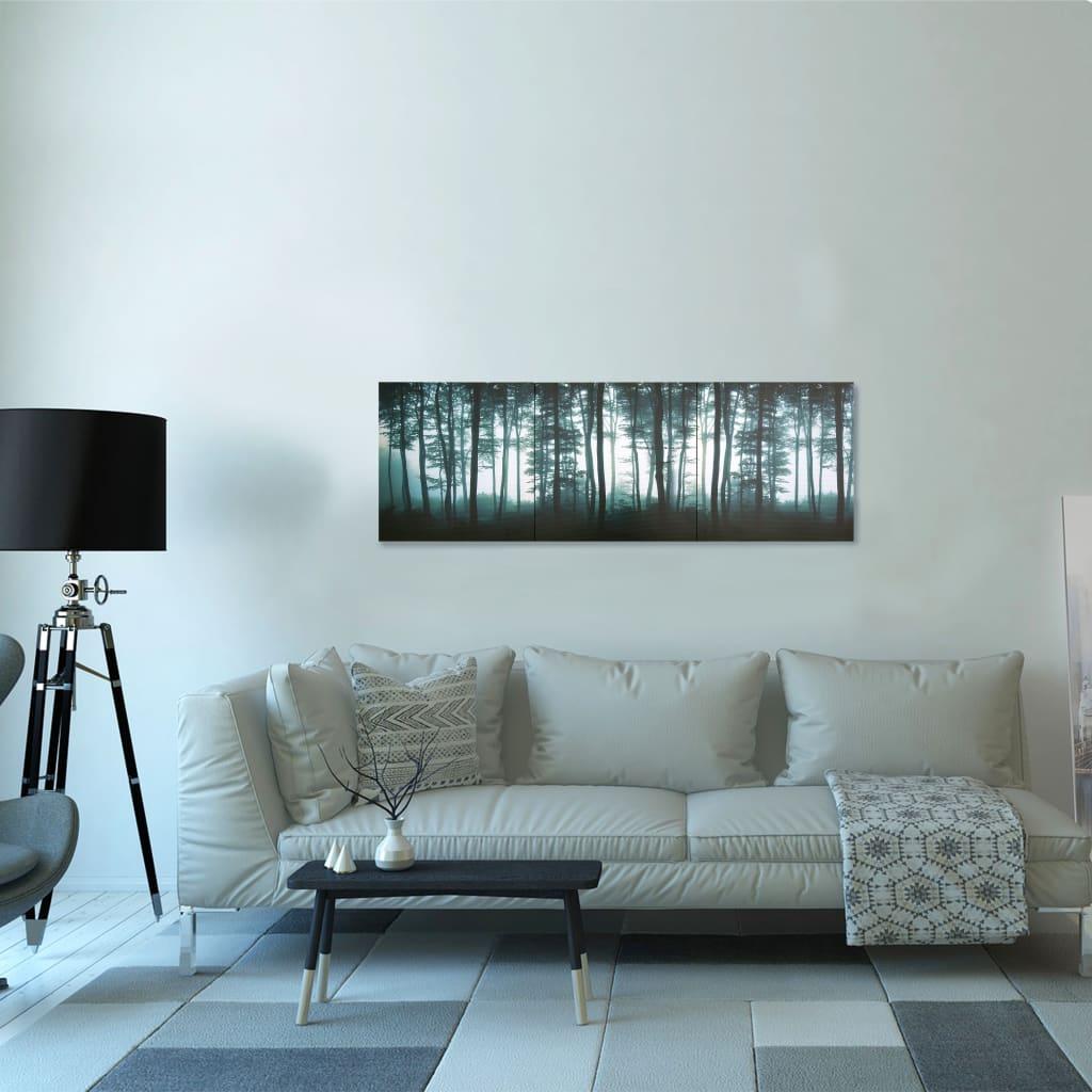 Sada nástěnných obrazů na plátně Stromy barevná 120 x 40 cm