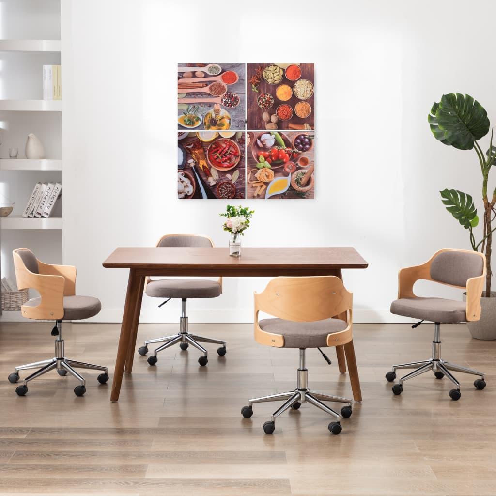 Sada nástěnných obrazů na plátně Kuchyně barevná 80 x 80 cm