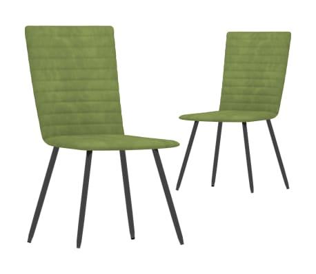 vidaXL Chaises de salle à manger 2 pcs Vert Velours