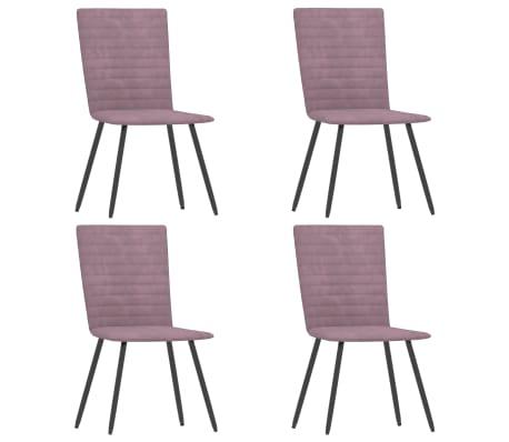 vidaXL Chaises de salle à manger 4 pcs Rose Velours