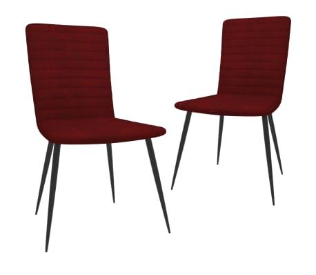 vidaXL Chaises de salle à manger 2 pcs Rouge bordeaux Velours