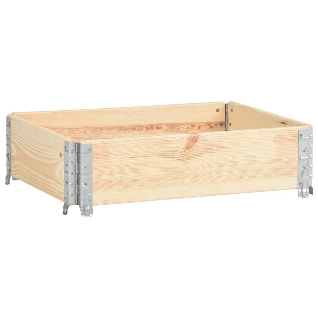 vidaXL Nadstawka paletowa., 60x80 cm, lite drewno sosnowe