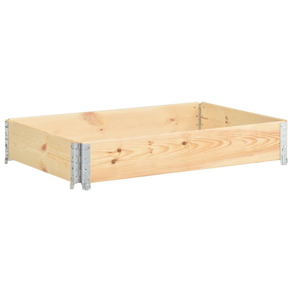 vidaXL Ramă pentru paleți, 80 x 120 cm, lemn masiv de pin poza 2021 vidaXL