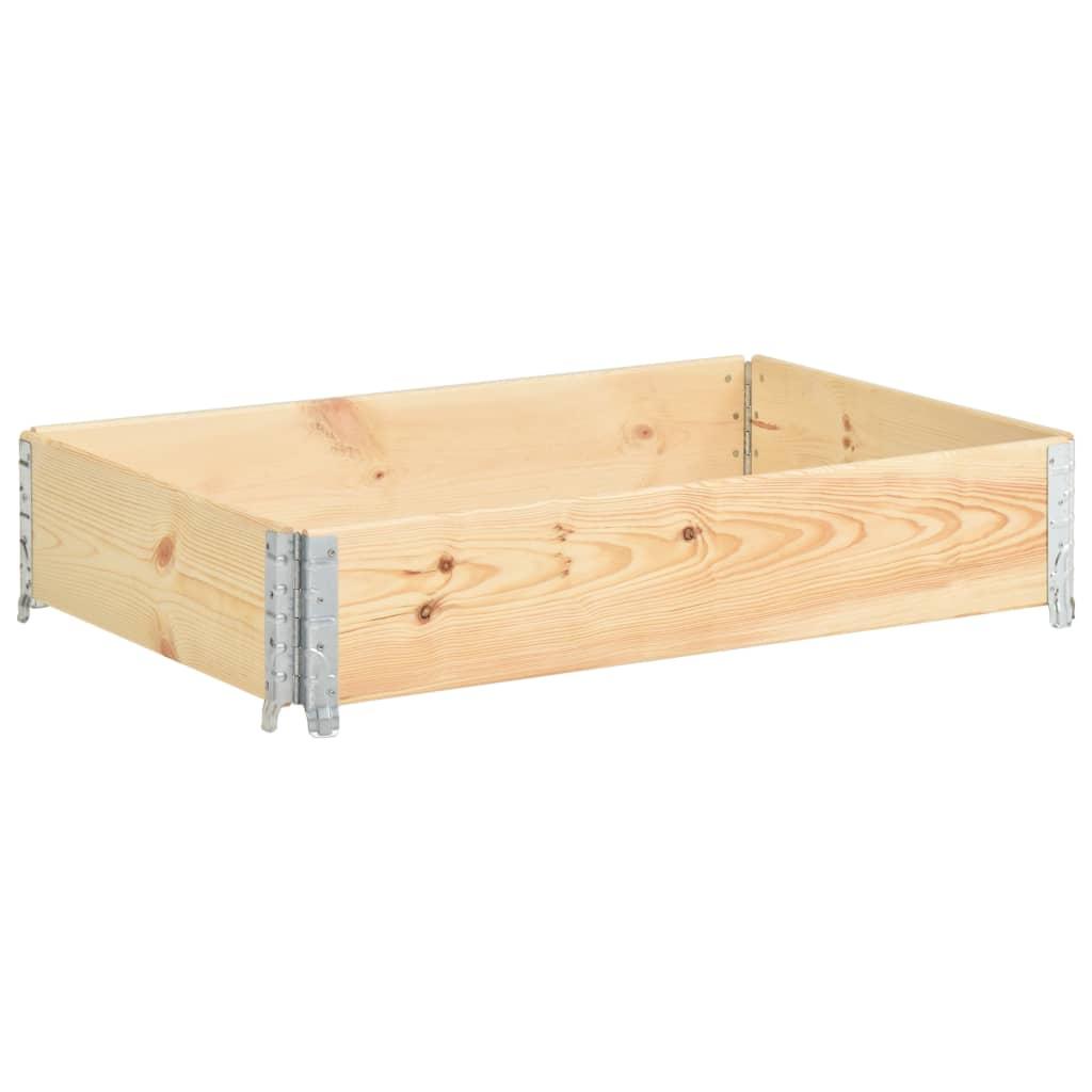 vidaXL Nadstawka paletowa, 50x100 cm, lite drewno sosnowe