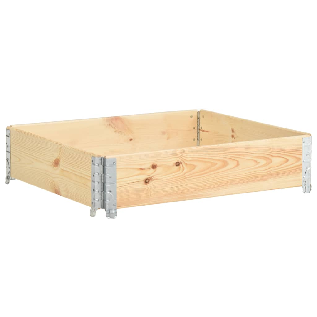 vidaXL Nadstawka paletowa, 100x100 cm, lite drewno sosnowe