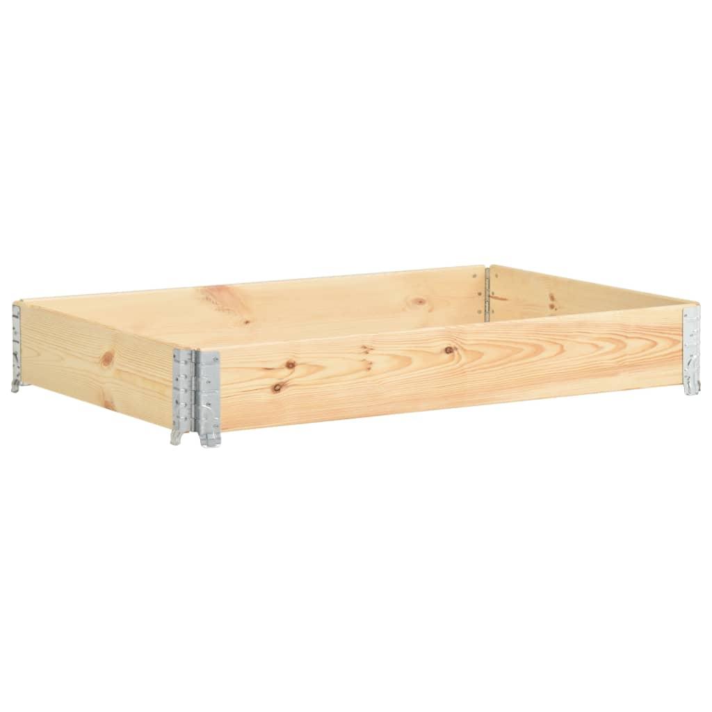vidaXL Nadstawka paletowa, 100x150 cm, lite drewno sosnowe