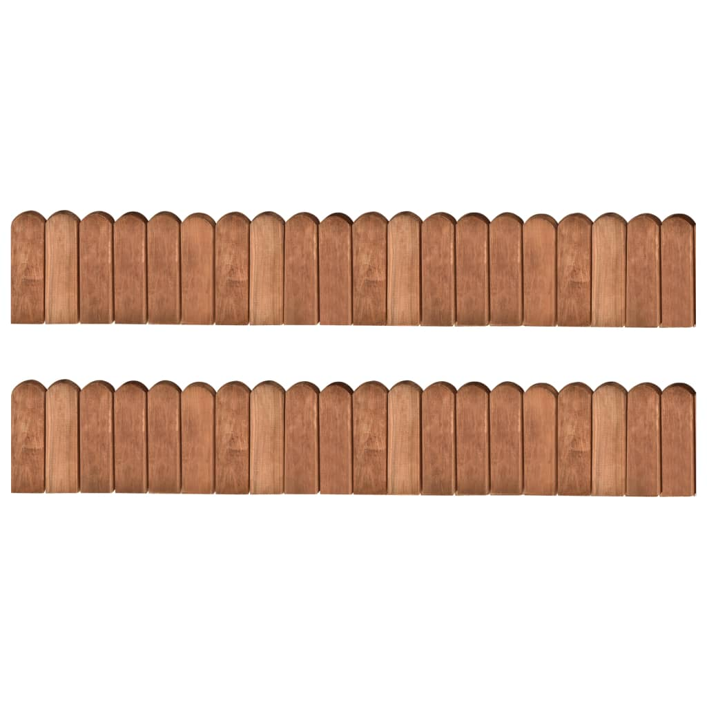 vidaXL Role de bordură, 2 buc., 120 cm, lemn de pin tratat imagine vidaxl.ro