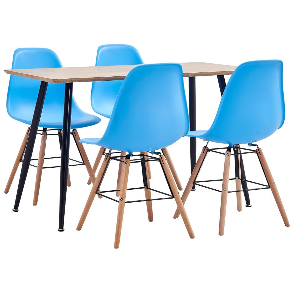 vidaXL Set mobilier de bucătărie, 5 piese, albastru, plastic vidaxl.ro