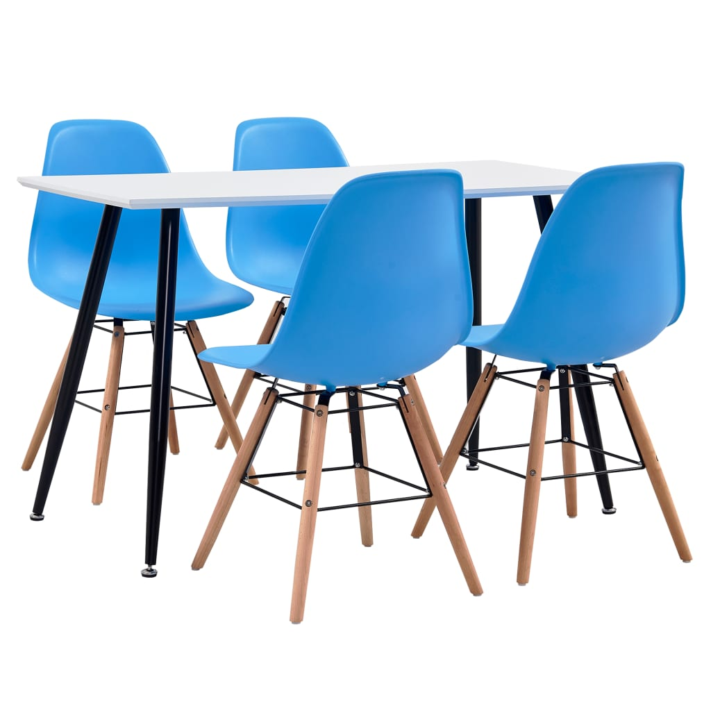 vidaXL Set de mobilier bucătărie, 5 piese, albastru, material plastic vidaxl.ro
