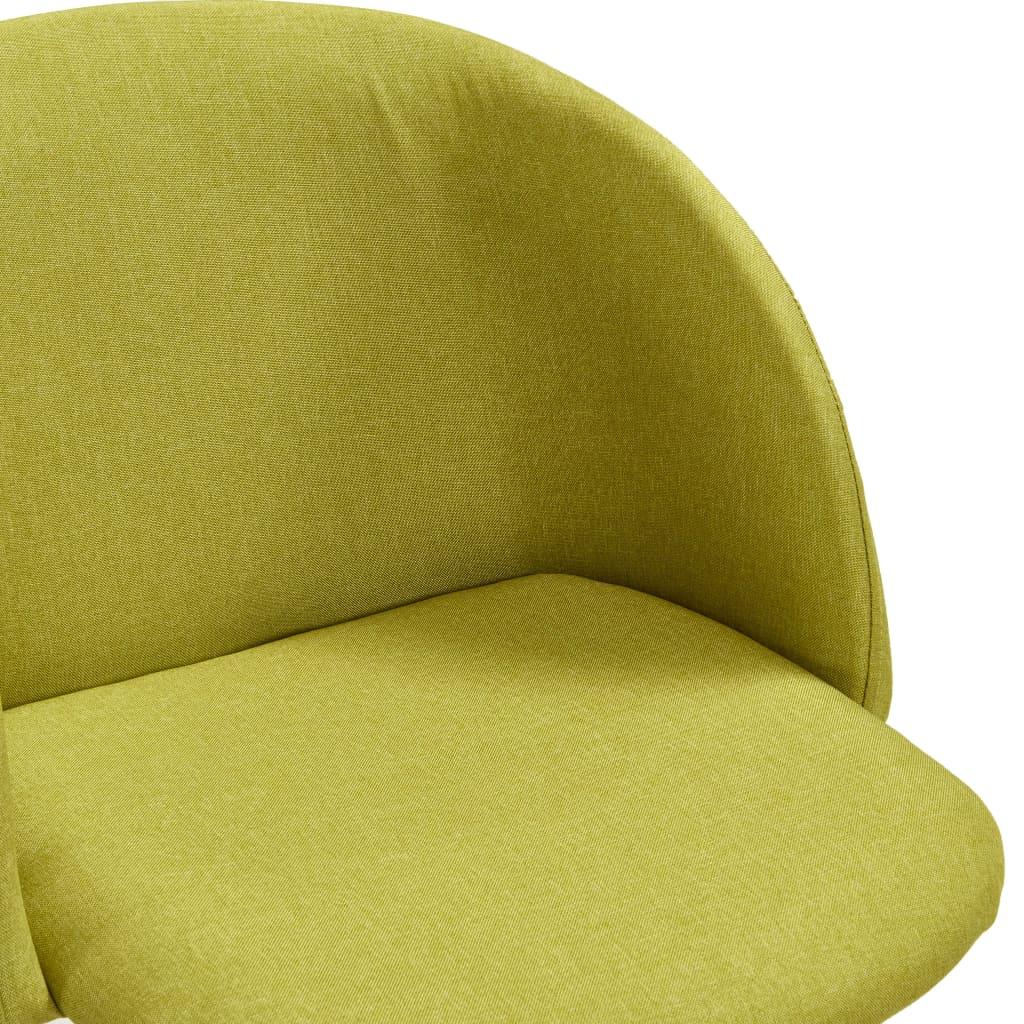 vidaXL 7-delige Eethoek stof groen