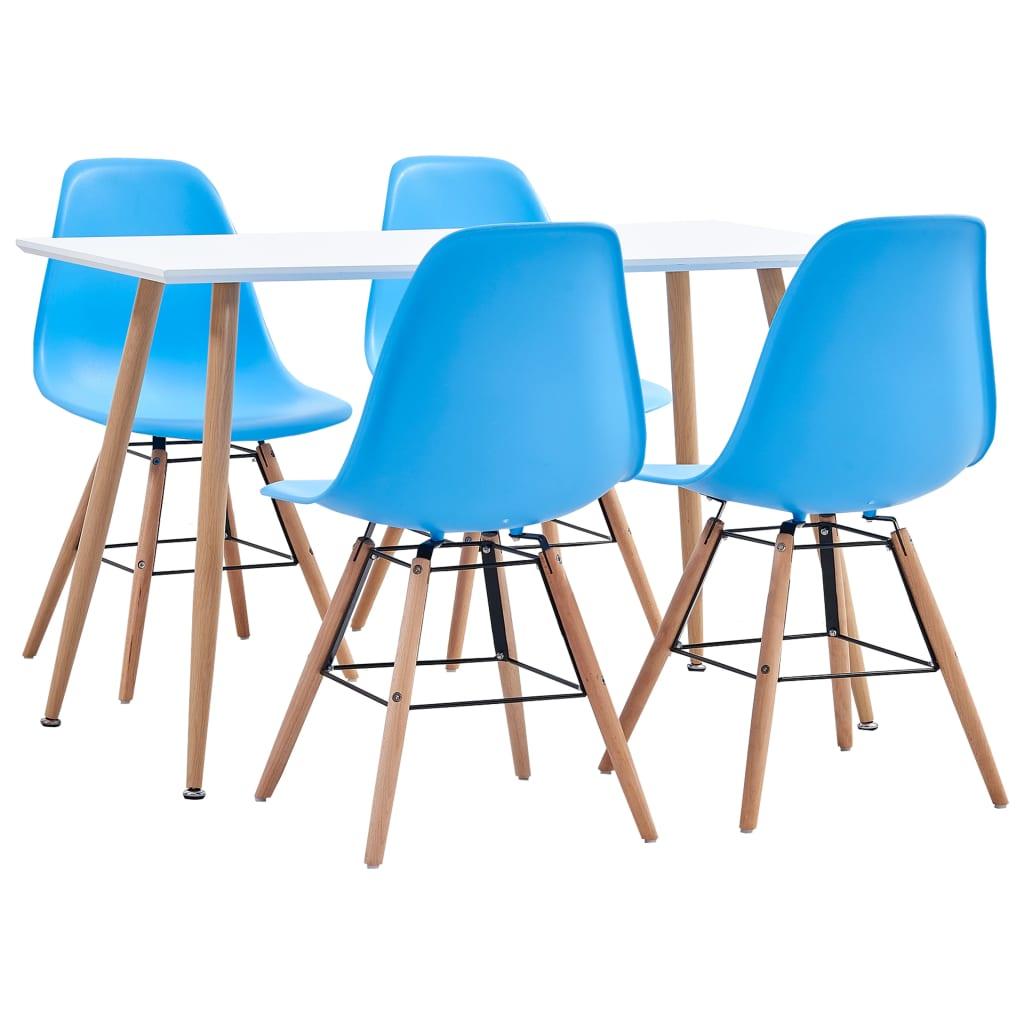 vidaXL 5-részes kék mûanyag étkezõgarnitúra