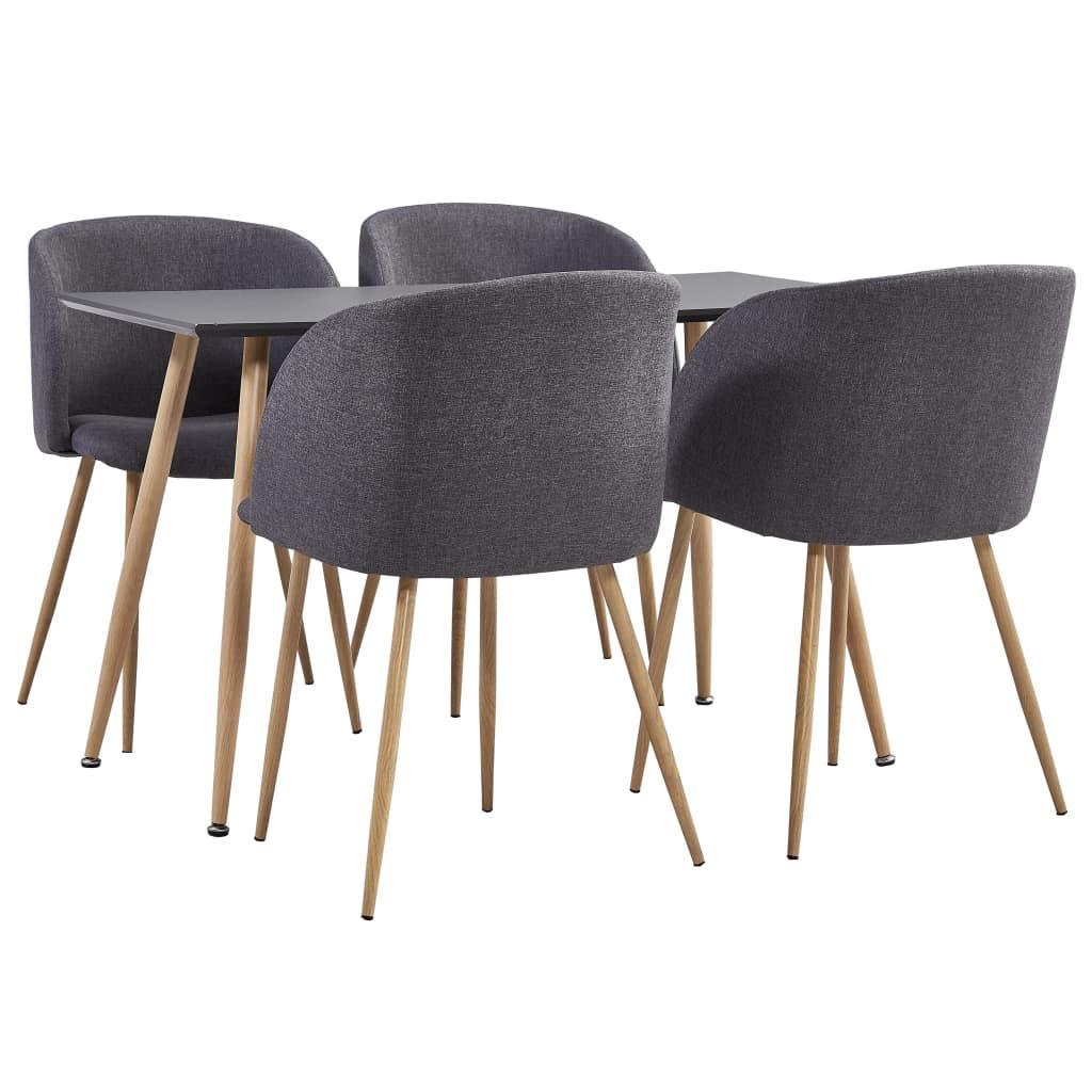 vidaXL Set mobilier de bucătărie, 5 piese, gri taupe, material textil imagine vidaxl.ro