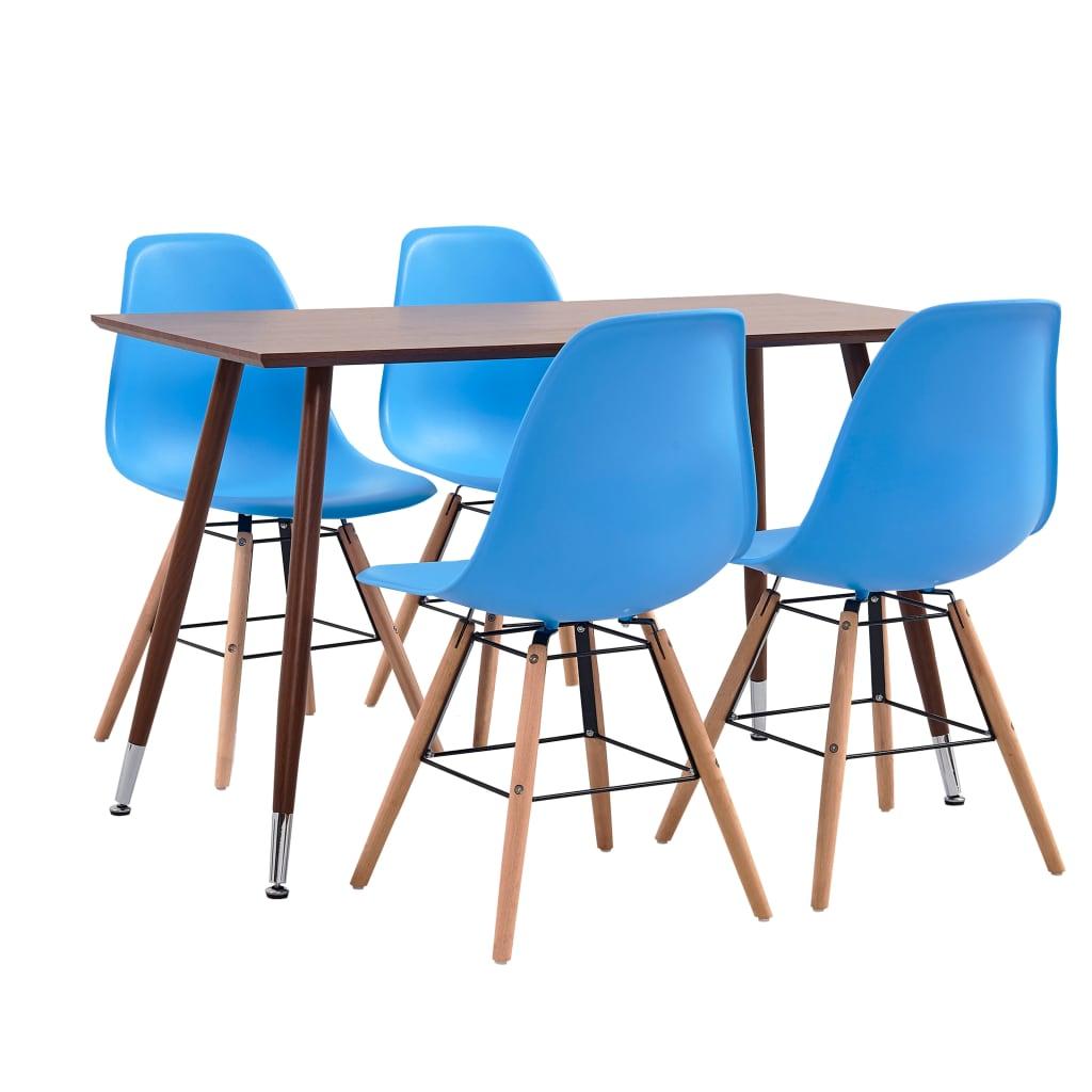 vidaXL Set mobilier de bucătărie, 7 piese, albastru, plastic poza vidaxl.ro