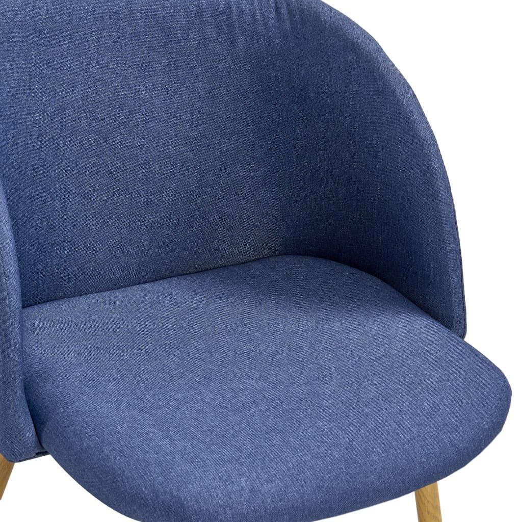 vidaXL 5-delige Eethoek stof blauw