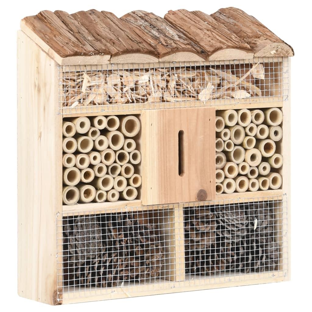 vidaXL Hmyzí hotel 30 x 10 x 30 cm jedlové dřevo
