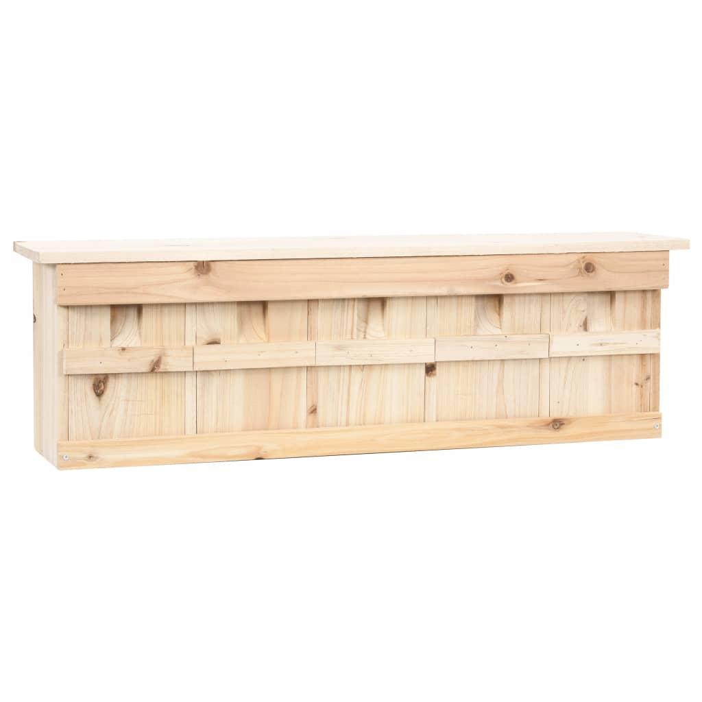vidaXL Căsuță de vrăbii cu 5 încăperi, 68 x 15 x 21 cm, lemn de brad vidaxl.ro