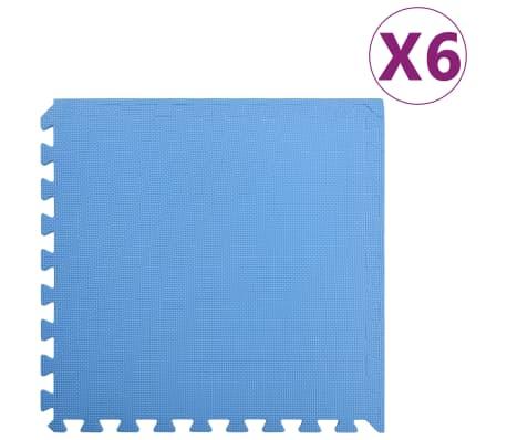 vidaXL Skyddsmatta 6 st 2,16 ㎡ EVA-skum blå