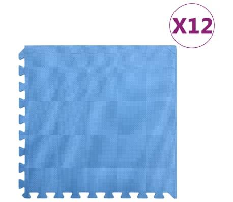 vidaXL Podložky puzzle 12 ks 4,32㎡ EVA pena modré