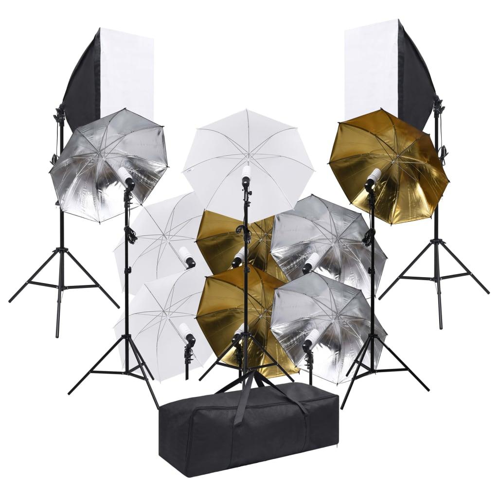 Studiový set s osvětlením a softboxy
