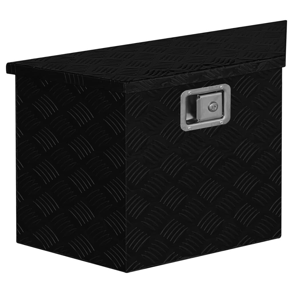 Přepravní hliníkový box 70 x 24 x 42 cm lichoběžníkový černý