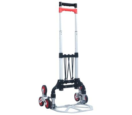vidaXL Foldable Stair Transport Trolley 70 kg Aluminium Sliver