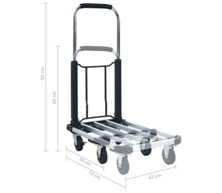 vidaXL Chariot de Transport Pliable 45 kg Aluminium Plate-forme Diable Bagages
