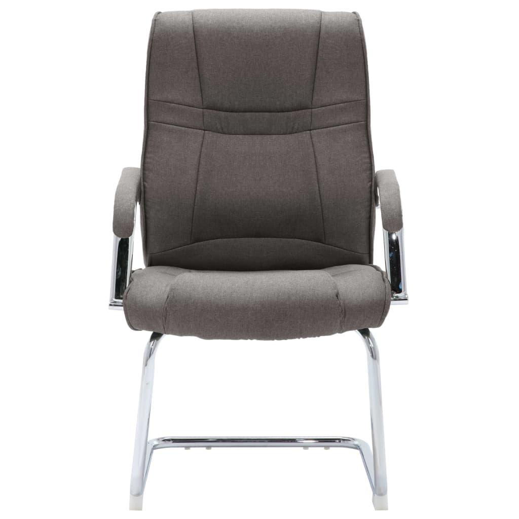 vidaXL Kantoorstoel stof grijs