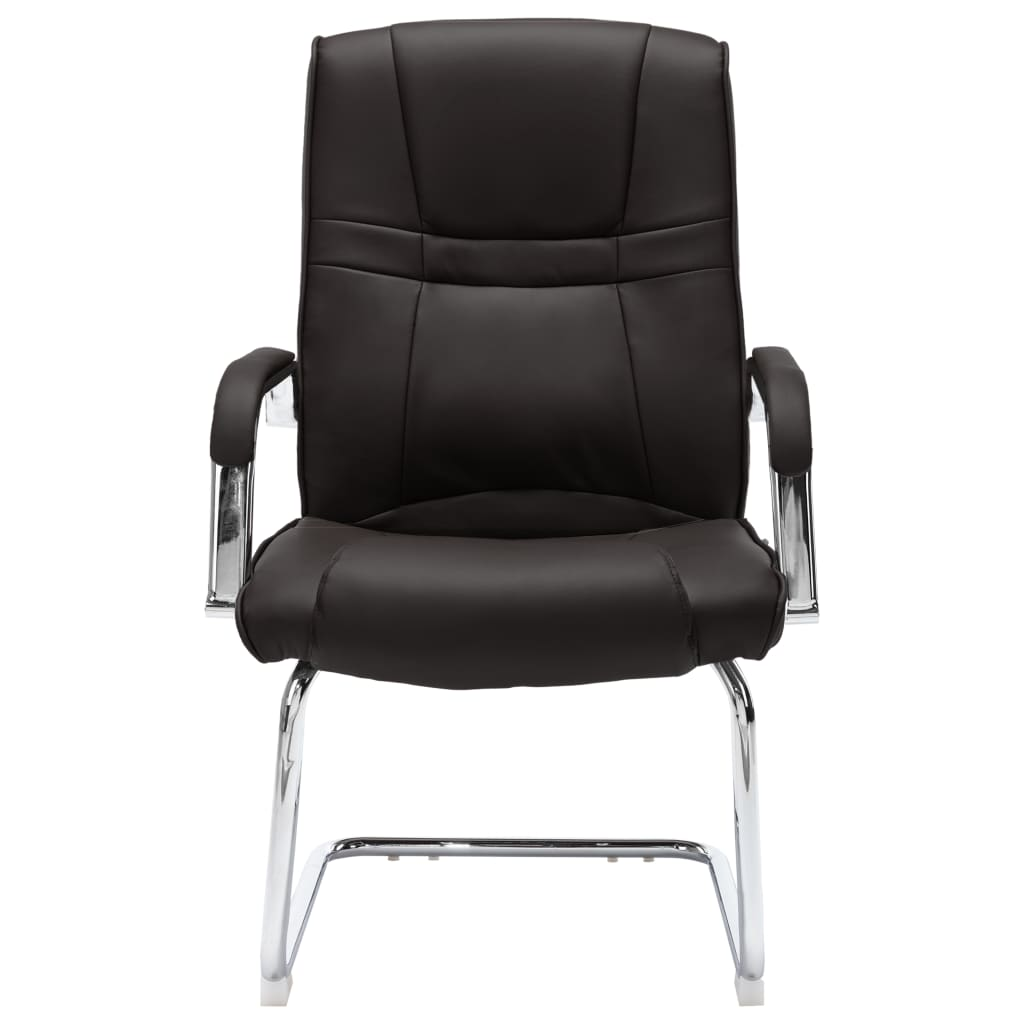 vidaXL Kantoorstoel kunstleer zwart