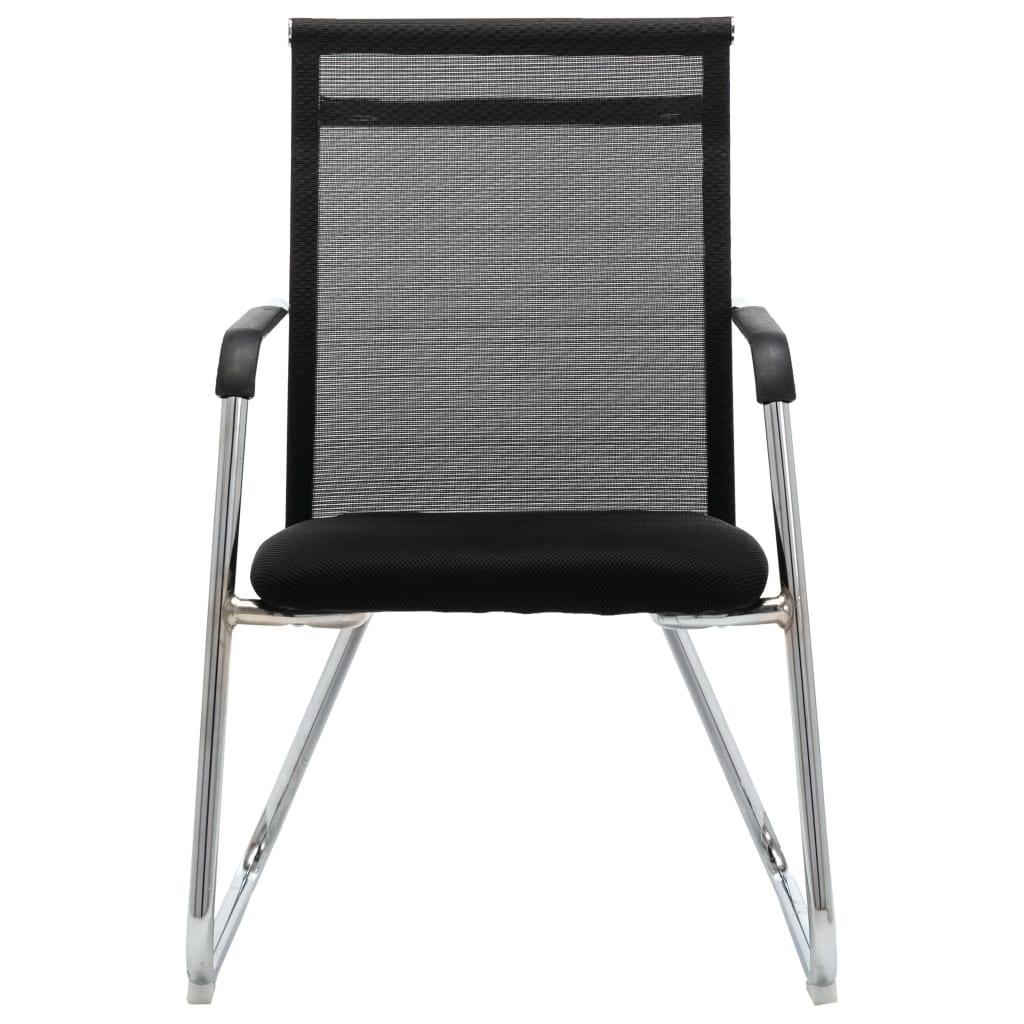 vidaXL Kantoorstoel mesh stof zwart