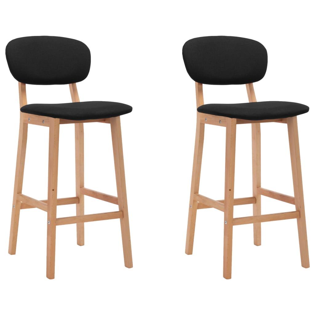 vidaXL Barski stolci od tkanine 2 kom crni