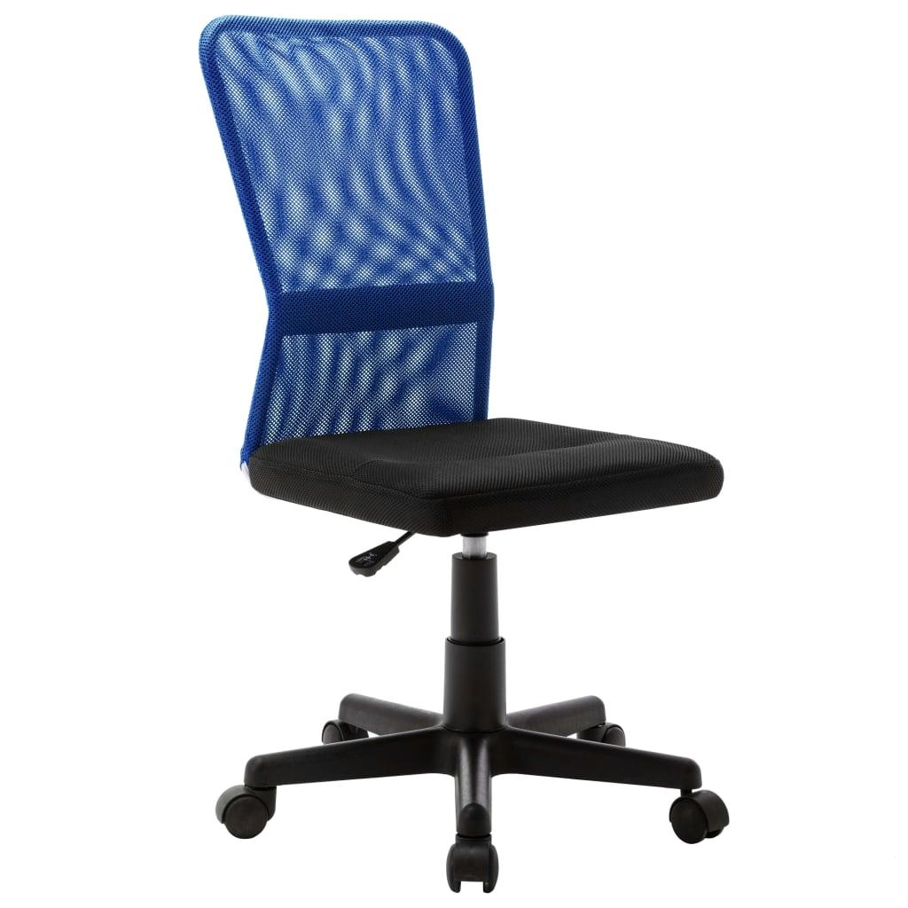 vidaXL Scaun de birou, negru și albastru, 44x52x100 cm, plasă textilă poza 2021 vidaXL