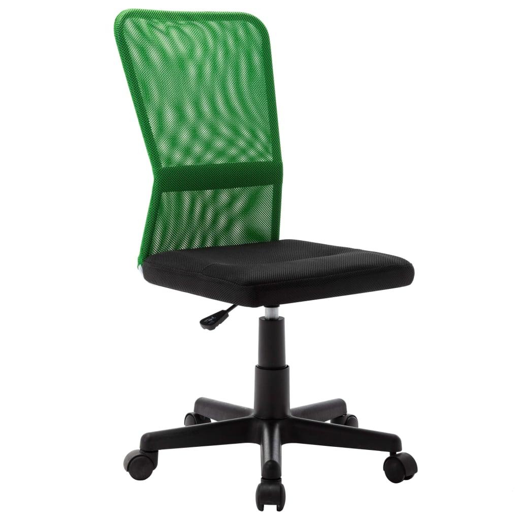 vidaXL Scaun de birou, negru și verde, 44 x 52 x 100 cm, plasă textilă vidaxl.ro