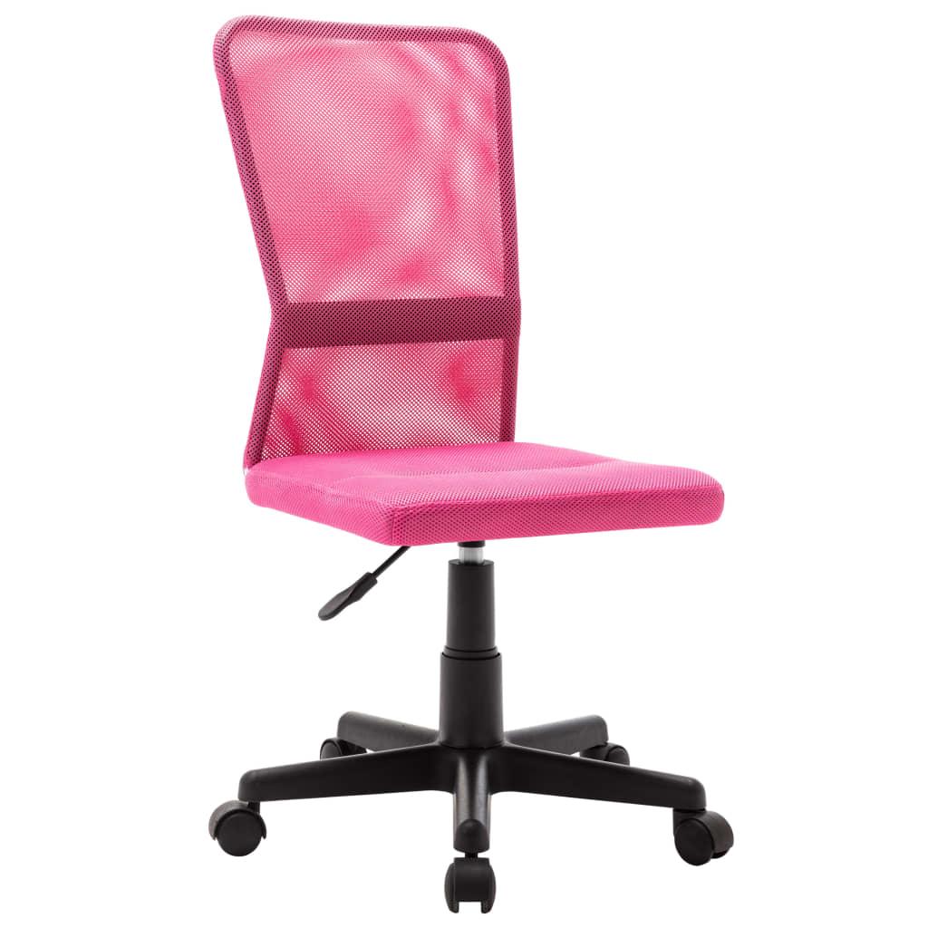 vidaXL Scaun de birou, roz, 44 x 52 x 100 cm, plasă textilă vidaxl.ro