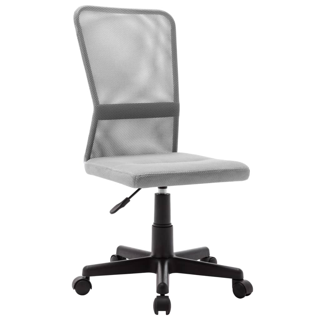 vidaXL Scaun de birou, gri, 44 x 52 x 100 cm, plasă textilă vidaxl.ro