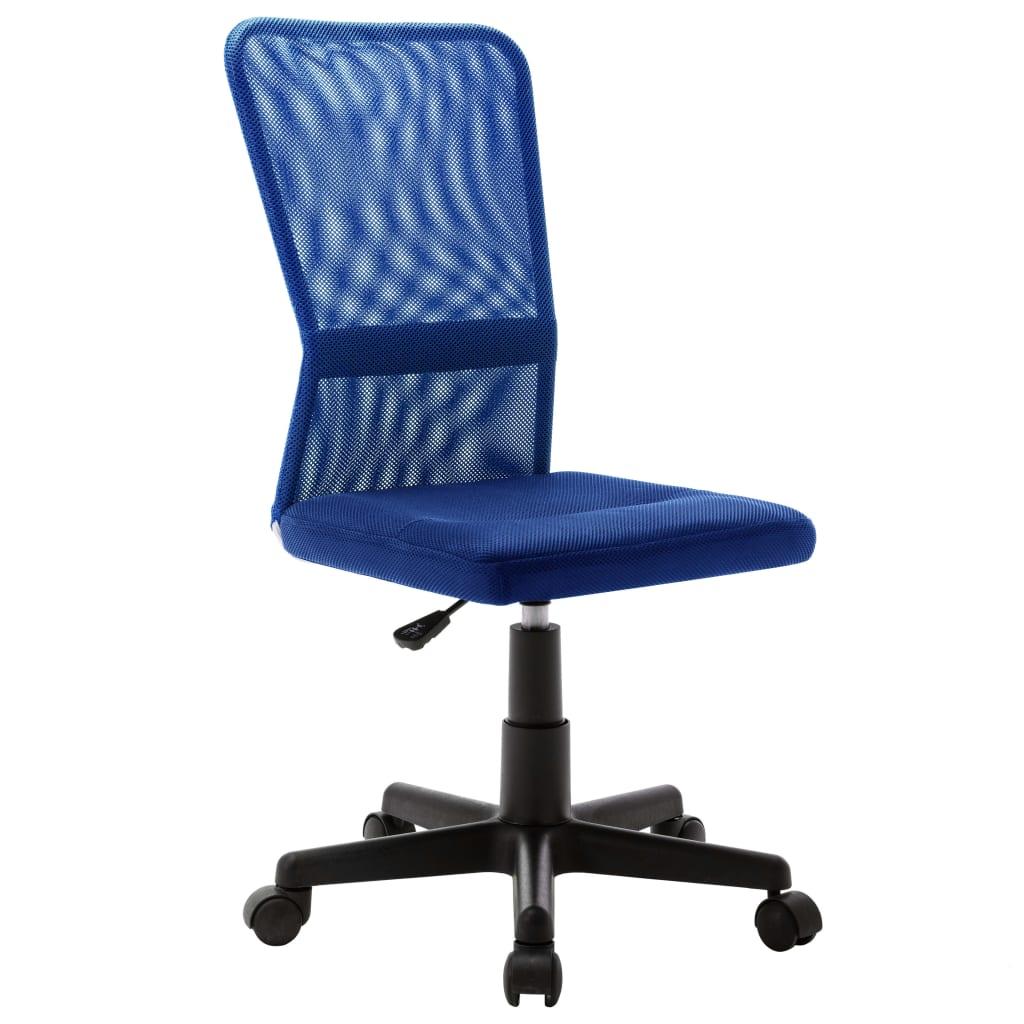 vidaXL Scaun de birou, albastru, 44x52x100 cm, țesătură plasă vidaxl.ro