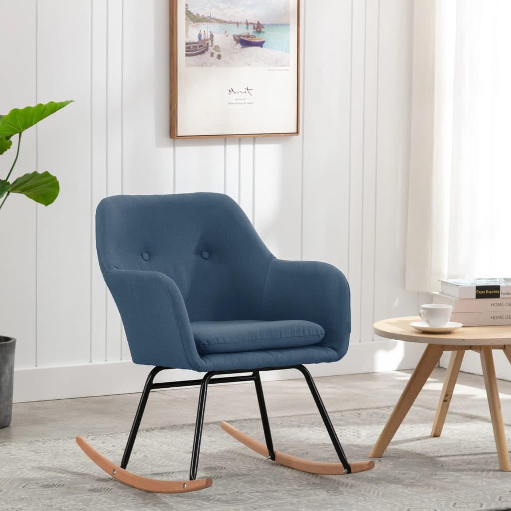 vidaXL Scaun balansoar, albastru, material textil poza 2021 vidaXL