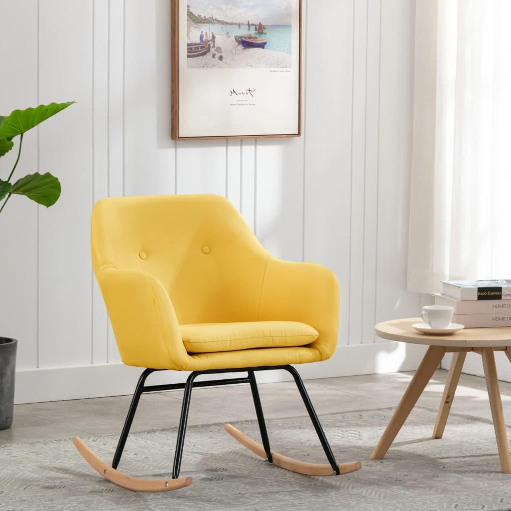 vidaXL Scaun balansoar, galben muștar, material textil poza 2021 vidaXL