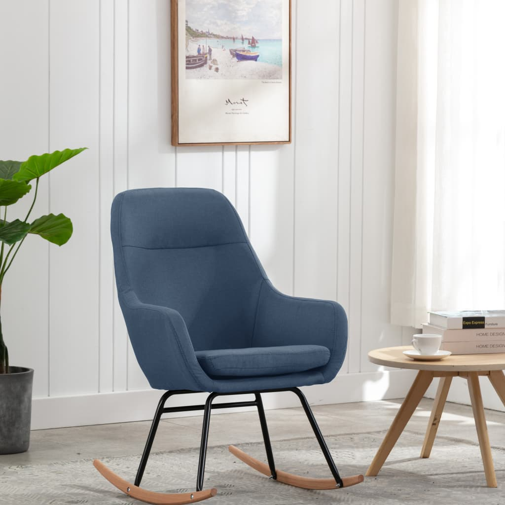 vidaXL Scaun balansoar, albastru, material textil imagine vidaxl.ro