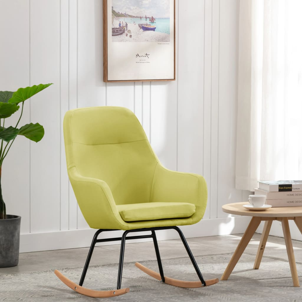 vidaXL Scaun balansoar, verde, material textil imagine vidaxl.ro
