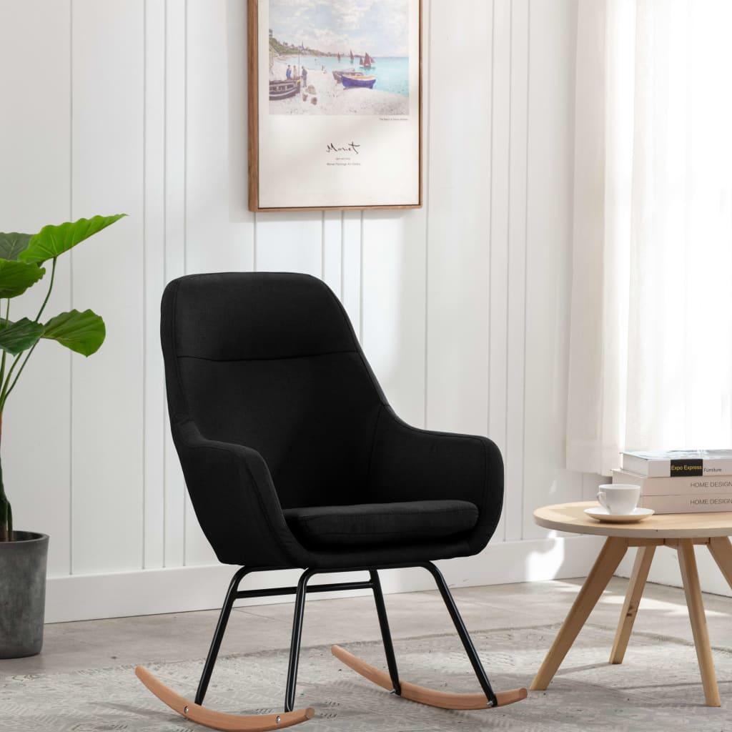 vidaXL Scaun balansoar, negru, material textil imagine vidaxl.ro