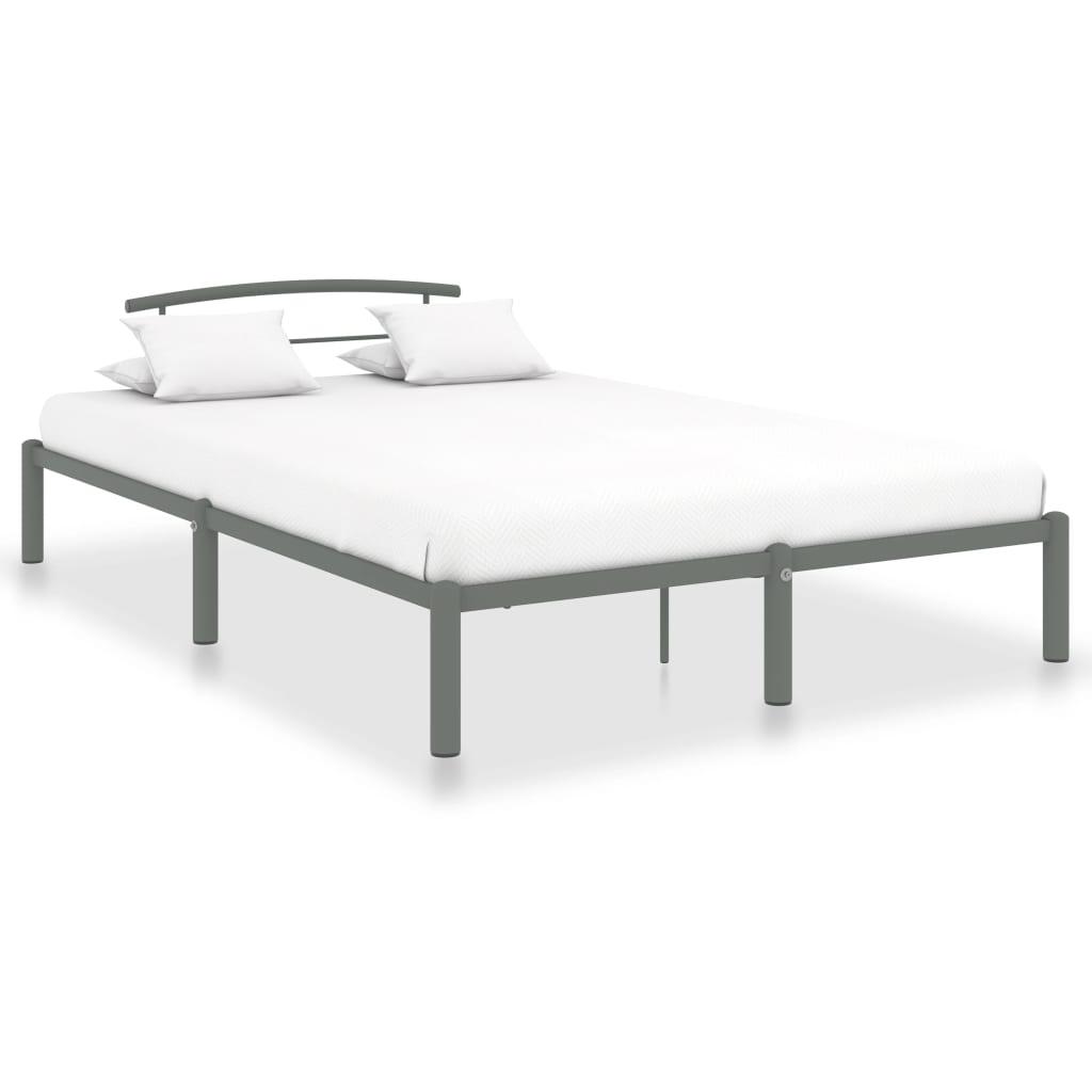 Rám postele šedý kov 120 x 200 cm