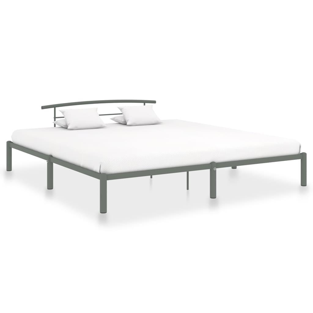 Rám postele šedý kov 180 x 200 cm