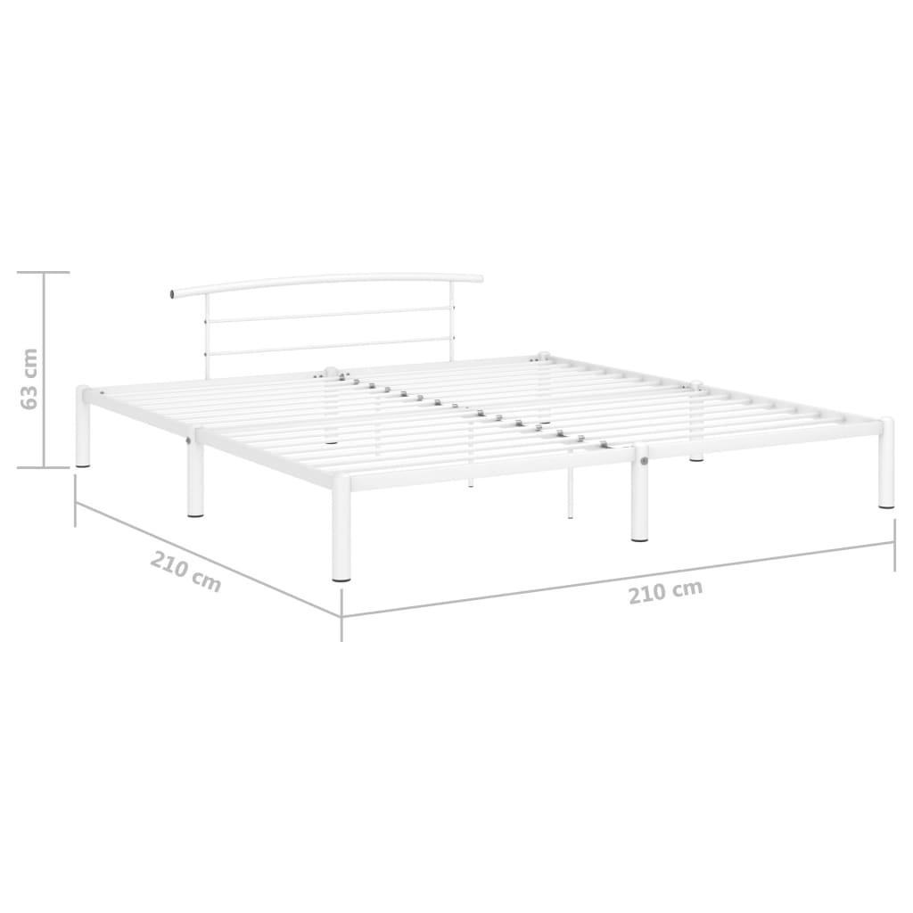 vidaXL Bedframe metaal wit 200x200 cm