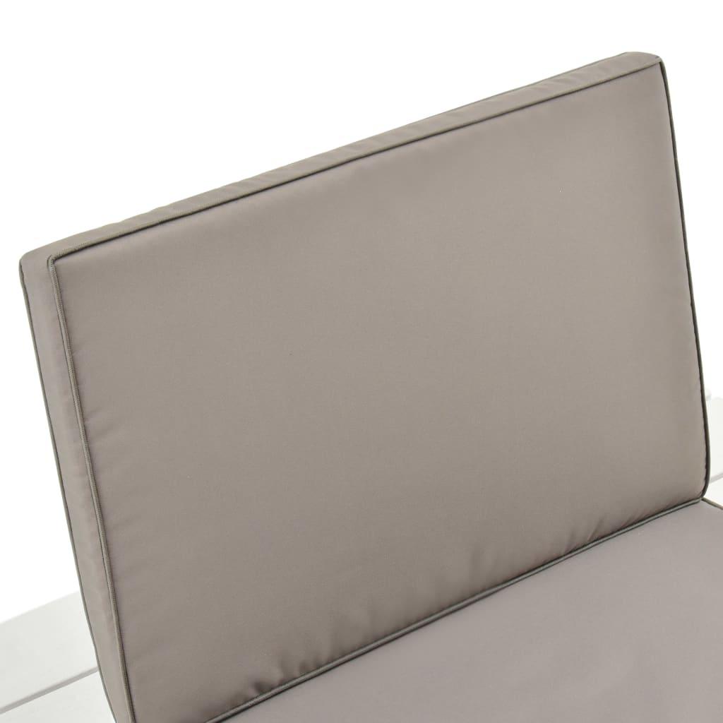 3-delige Loungeset kunststof wit