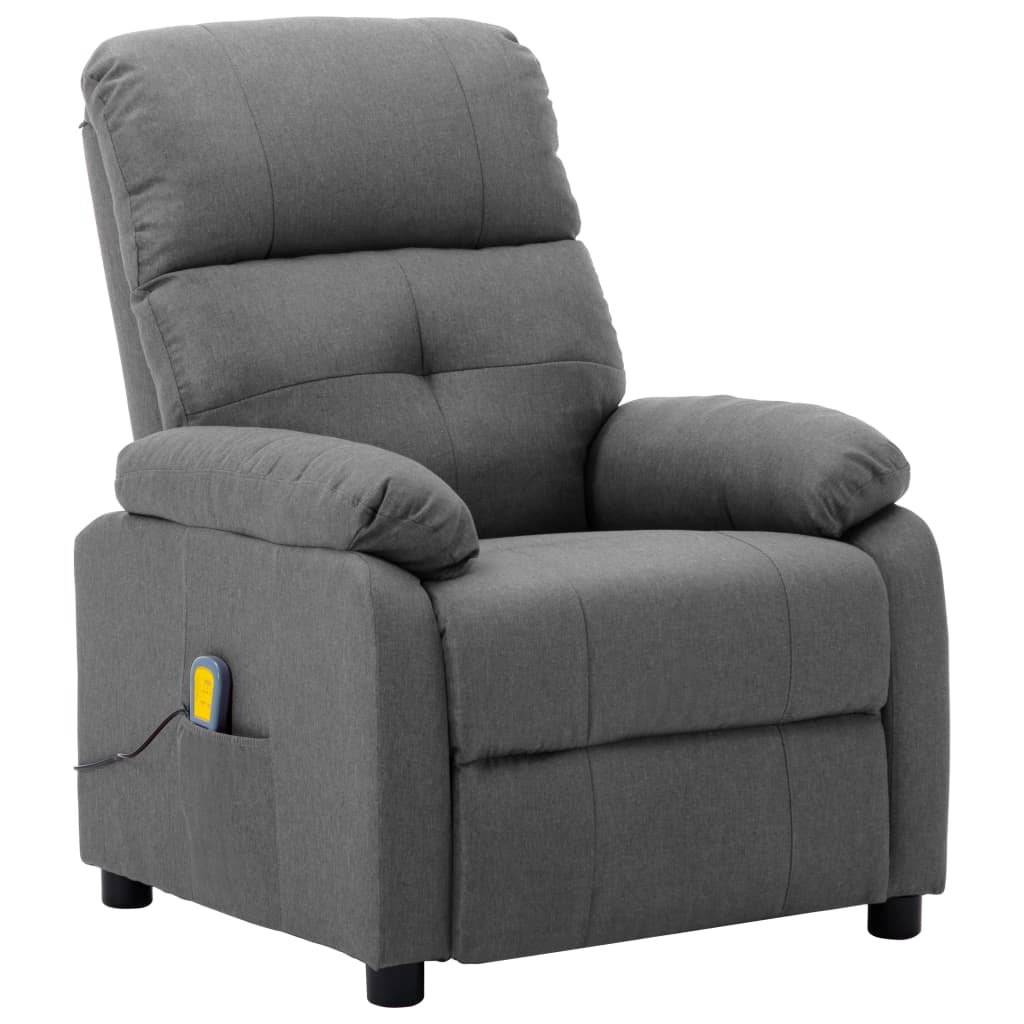 vidaXL Masažna fotelja od tkanine svjetlosiva