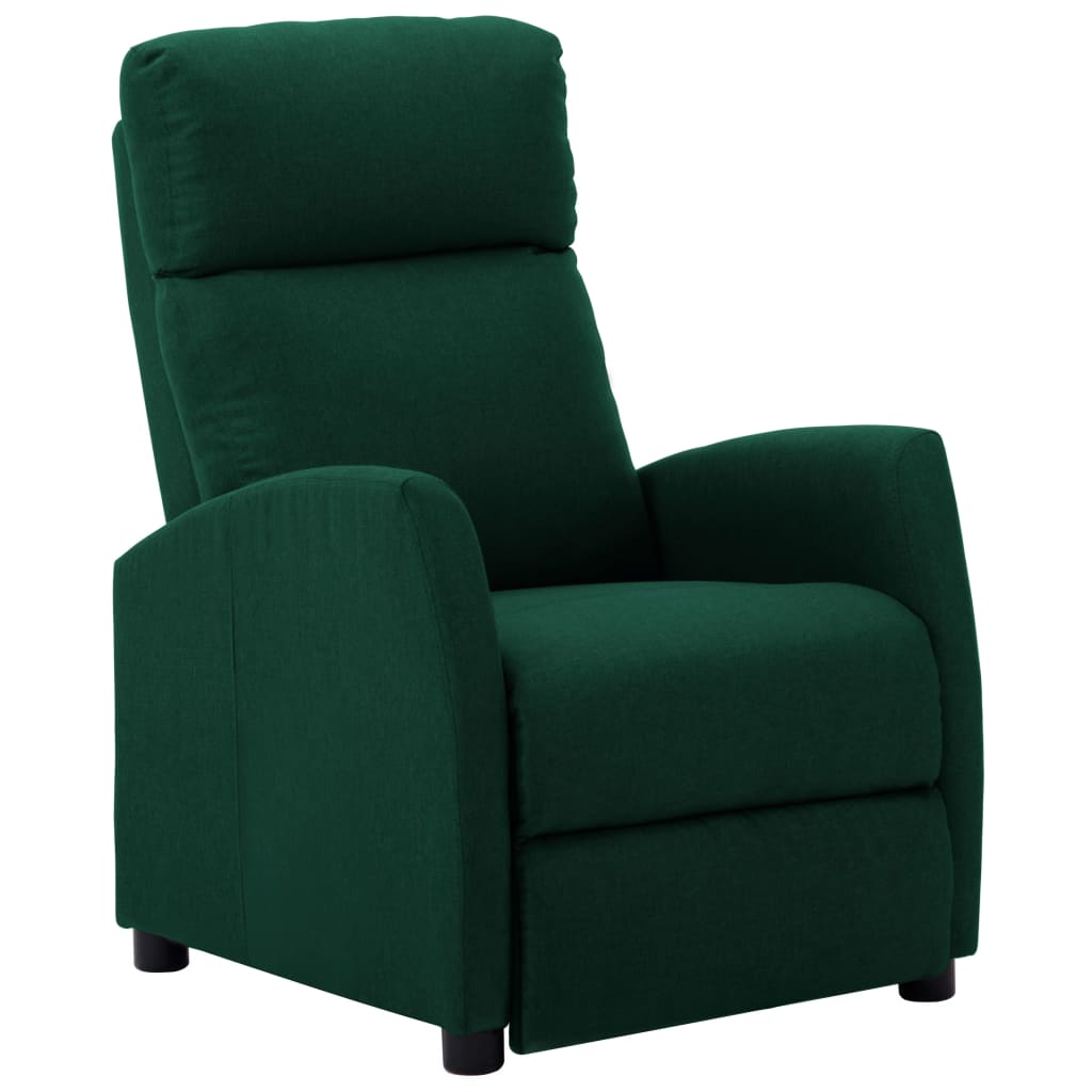 vidaXL Fotoliu rabatabil, verde închis, material textil vidaxl.ro